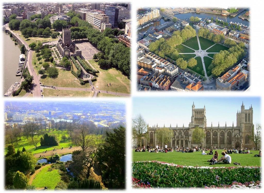Bristol's city centre green spaces